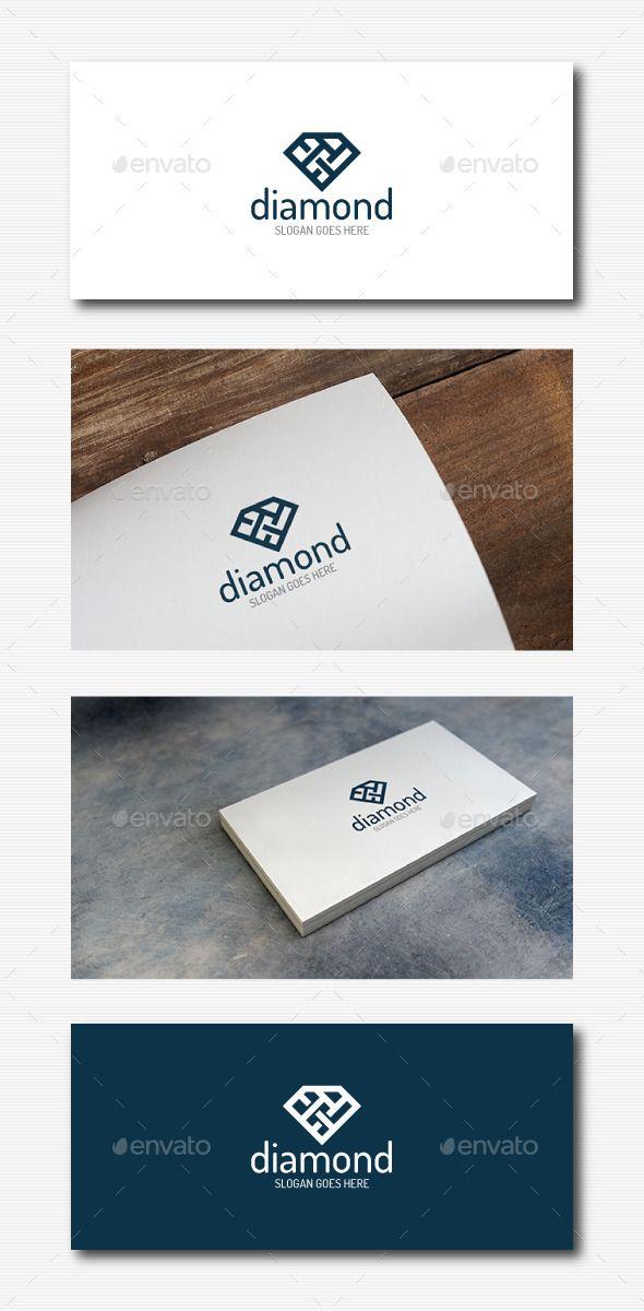 Stylish Diamond  Logo Design Template Vector #logotype Download it here: http://graphicriver.net/item/stylish-diamond-logo/11923096?s_rank=663?ref=nexion