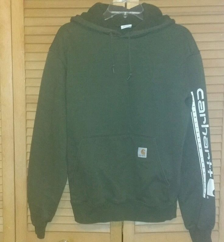 Check Out Our Other Items For Sale!!! Carhartt hoodie size small S Mens Womens Long Sleeve pullover green used  #Carhartt #Hoodie