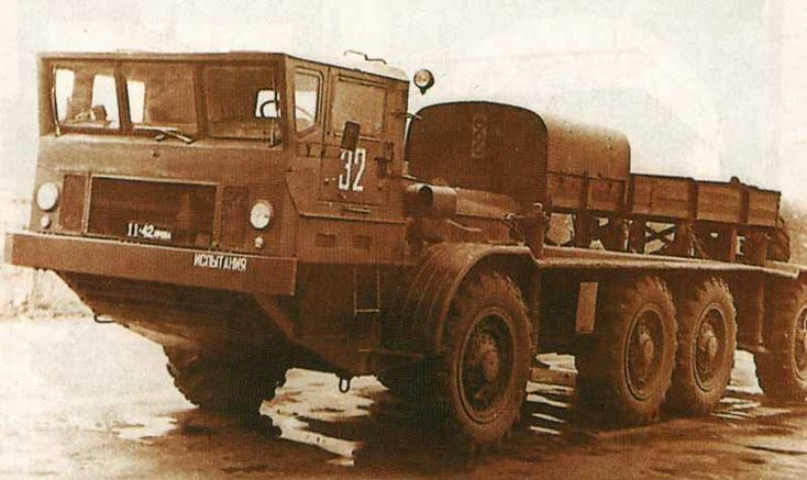 ZiL-135IE. This was a ZiL-135K with a diesel electric transmission. Two diesel engines drove a DC generator, that provided electricity to a 22 KW traction motor fitted to each axle. The traction motors were heavy and expensive, and only a prototype was built.