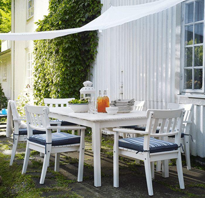 Schön Ikea Gartenmöbel Outdoor Esstisch Sonnensegel Stühle