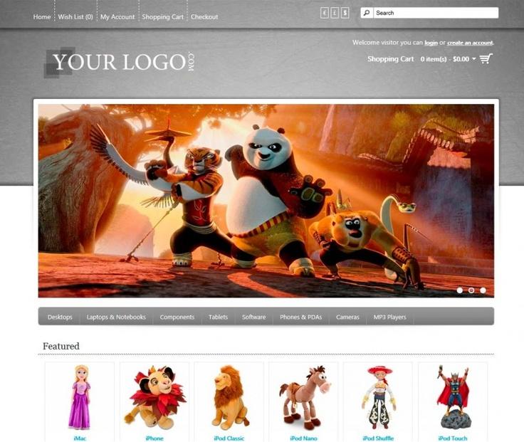 Color Cart V3 | Belle présence de la bannière ainsi que des items interessant au bas. Belle capacité de personalisation avec la bonne couleur,  le créateur du theme propose de faire les images de la bonne couleure | Demo: http://www.colorv3.opencart-demo.com/ | Prix: 10$