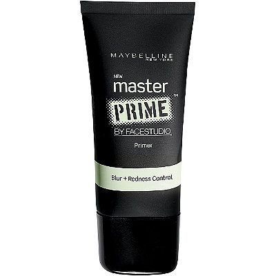 Maybelline Blur + Redness Control Primer: a soft, mint green primer that prepares your skin for foundation & discreetly tones down redness from blemishes