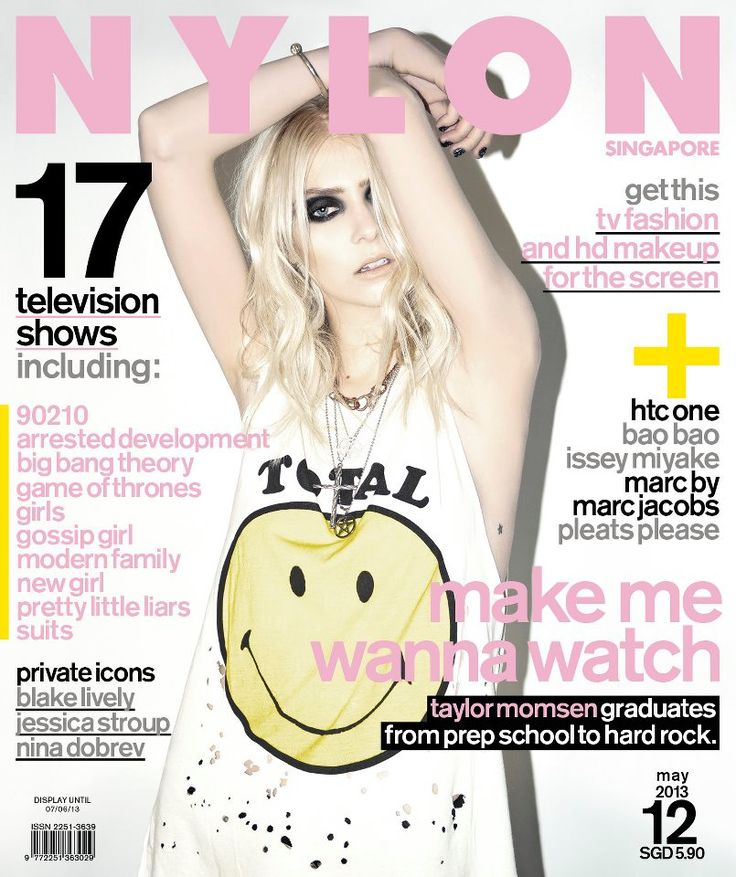 Taylor Momsen - Nylon Magazine Cover [Singapore] (May 2013)