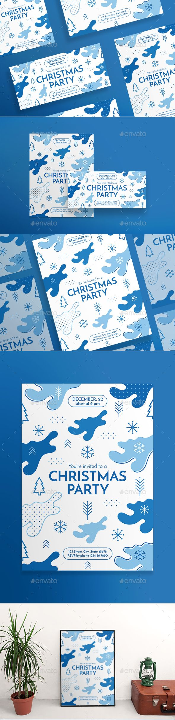 #Christmas #Party Flyers - Clubs & Parties Events