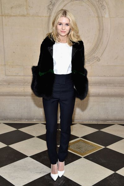 Lottie Moss attends the Christian Dior show as part of the Paris Fashion Week Womenswear Fall/Winter 2017/2018 at Musee Rodin on March 3, 2017 in Paris, France.