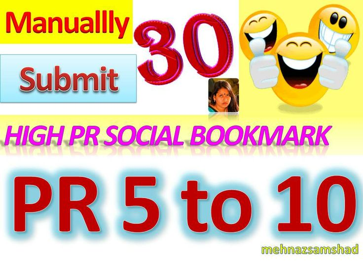 PR 5+ Social Bookmark Submission