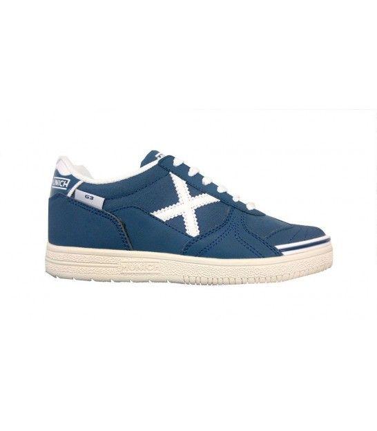 Munich - Zapatillas de Piel para hombre azul BLU SUGAR azul Size: UNISEX 45 gJiQRF97