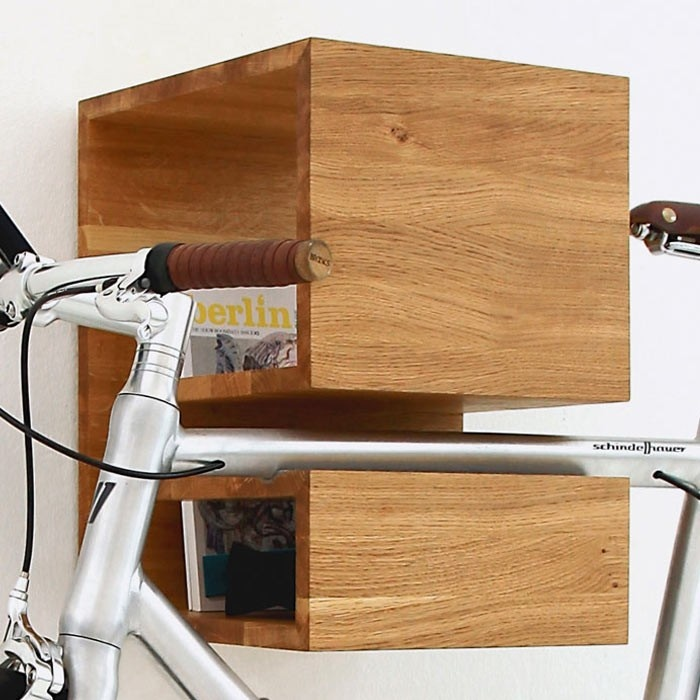 mikili bicycle furniture kapp fahrradhalterung shelves. Black Bedroom Furniture Sets. Home Design Ideas