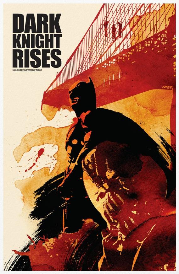 Batman Trilogy Poster Set 11x17.  via Etsy. #illustration