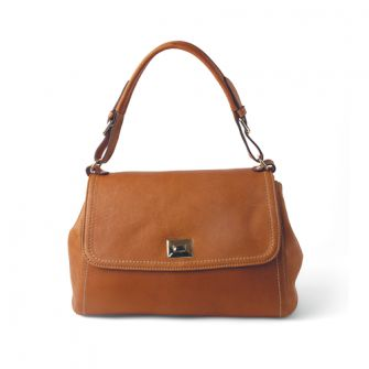 IT MILAN: Camel leather shoulder and handbag