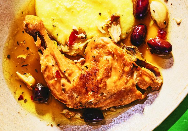 Huhn mit Rosmarin und Oliven