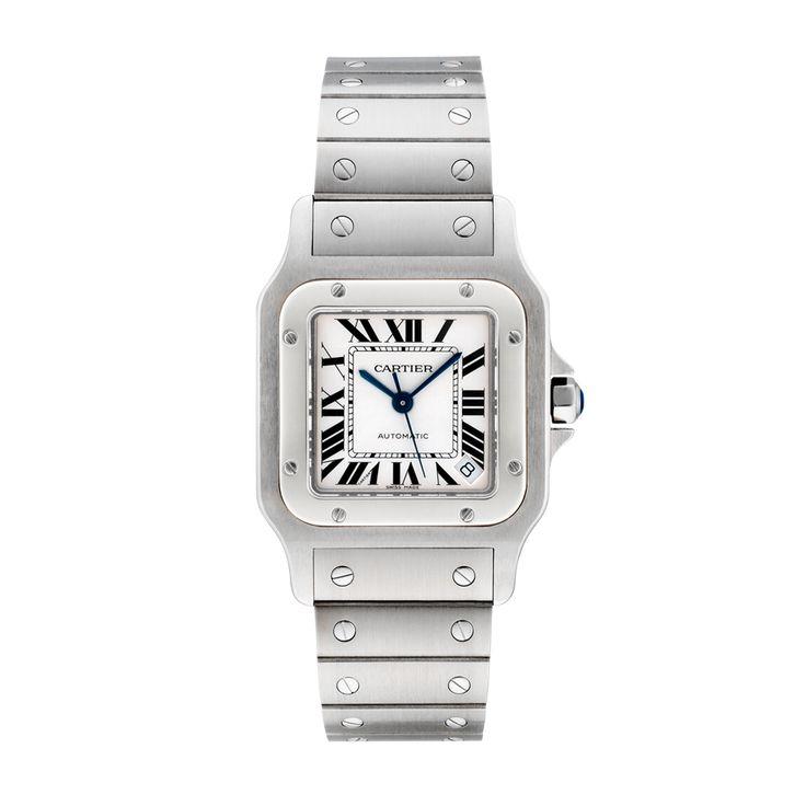 """Santos de Cartier """"galbée"""" watch, extra large model - Automatic, steel - Fine Timepieces for men - Cartier"""
