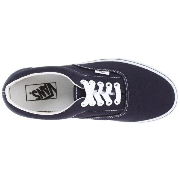Vans Era Core Classics Shoes (€39) ❤ liked on Polyvore featuring shoes, sneakers, navy, navy sneakers, vans sneakers, lace up shoes, vans footwear and laced up shoes