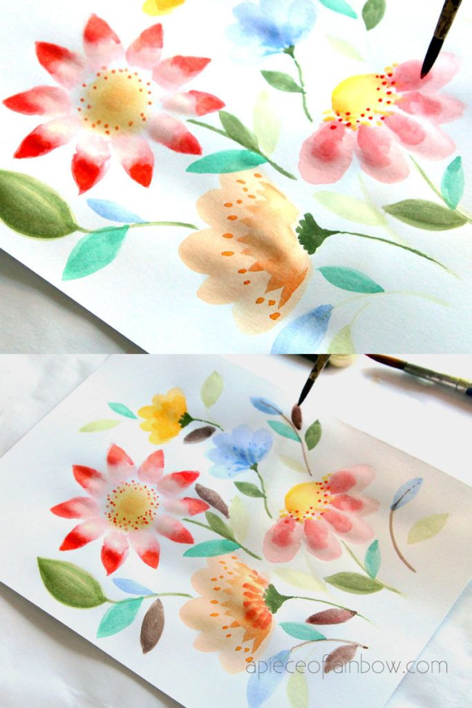 Paint Beautiful Watercolor Flowers In 15 Minutes Simple