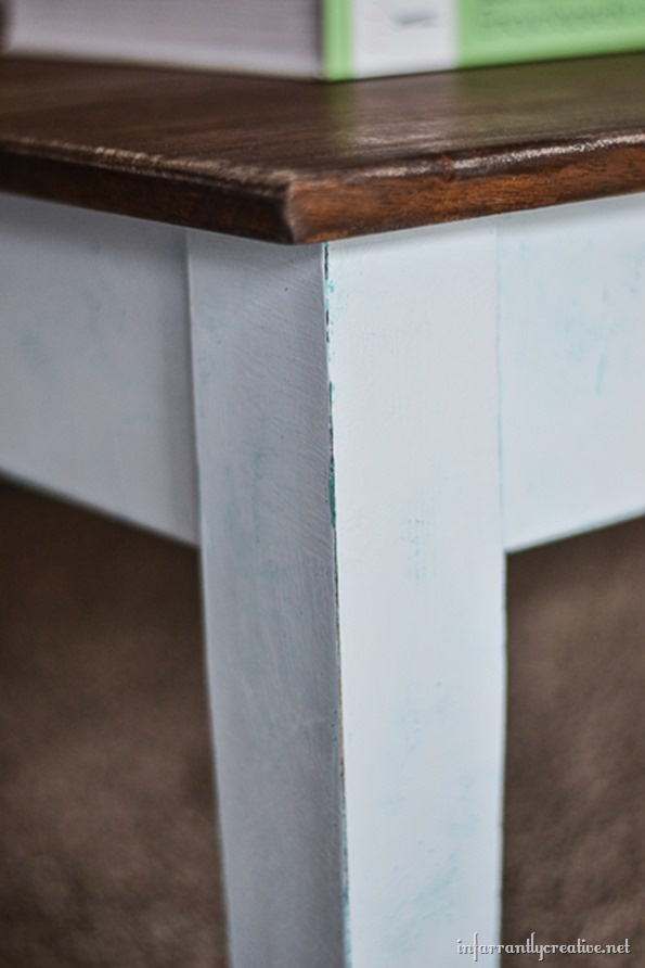 Layered Chalk Paint~Computer Desk to Coffee Table