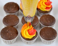 Beki Cook's Cake Blog: How To Make Multi-Colored Swirled Cupcakes