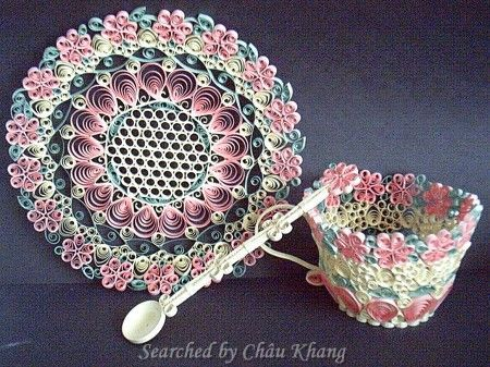 Unknown artist - 3D quilled kitchenware (Searched by Châu Khang)
