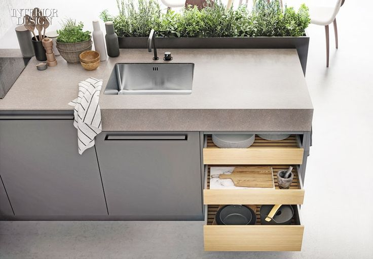 Urban herb garden in granite by SieMatic.  ::  36 New Kitchen and Bath Products with Polish and Personality