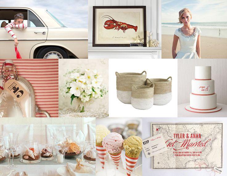 : Red Striped Beach Wedding, Weddings Inspiration Boards, Wedding Ideas, Color, Vintage Beach Weddings, Weddings Summer, Summer Weddings