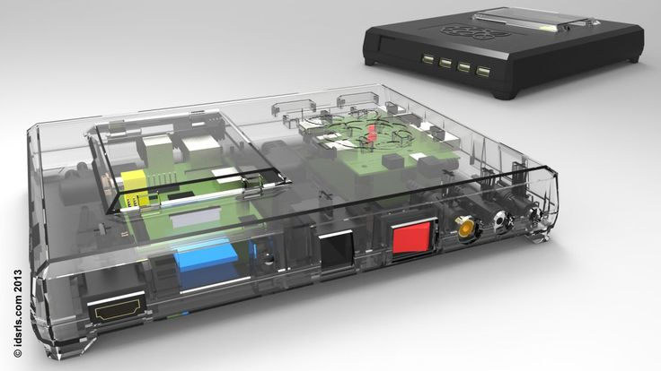 Raspberry Pi Case With Integrated Power Switch Usb Hub