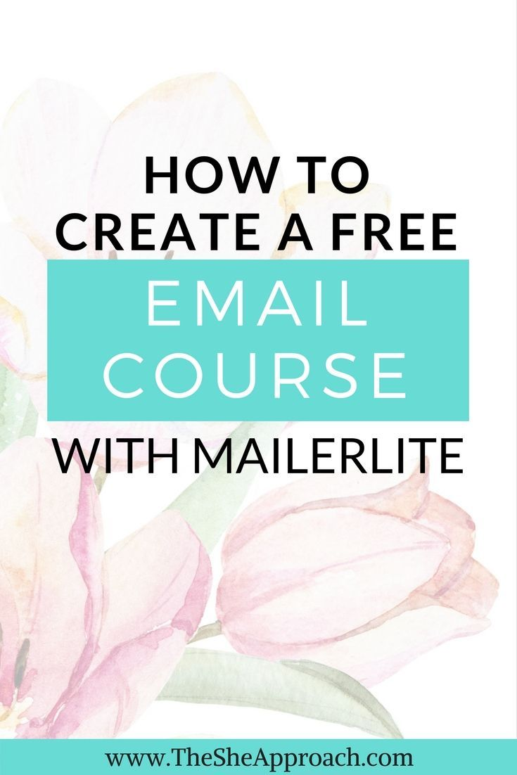 The ultimate guide to creating a free email course with Mailerlite and the fastest way to grow your email list! Email marketing tips from The She Approach. Blogging tips for new bloggers and more. Free email marketing service and tips. Blogging tips.