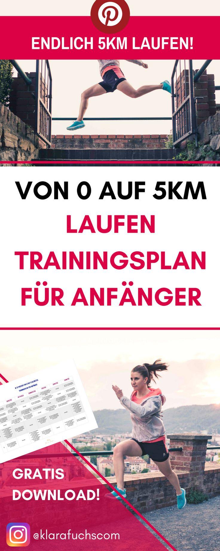 Von 0 auf 5 km. Trainingsplan für Laufanfänger