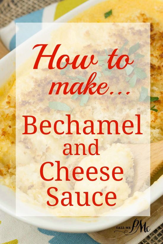 Béchamel sauce is known as white sauce, is made from a white roux and milk. It is a mother sauce of French cuisine which simply means it's the base sauce for other sauces. It is the perfect sauce for mac and cheese.
