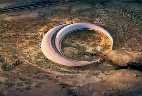 This futuristic piece of architecture in Riyadh – Saudi Arabia, is going to be home of the largest indoor gardens in the world. The dome will cover over 24 acres! These two crescent-shaped sections will interlock including many of the key botanical elements from around the world.