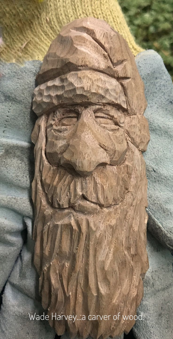 This is a Santa Ornament carved from Butternut.