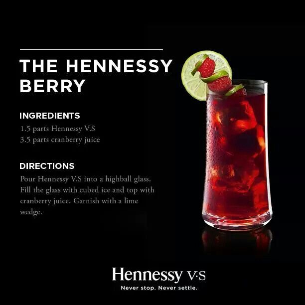 Alcohol Drink Recipes, Hennessy