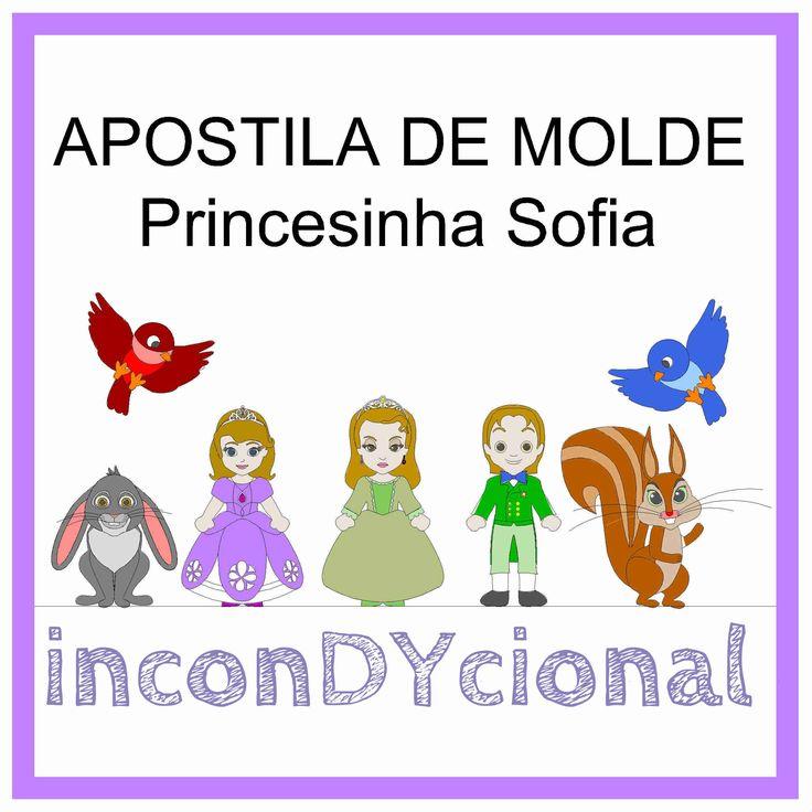 >> Apostila digital com molde da turma da Princesinha Sofia.  >> Sem PAP. Apenas o molde.  >> Bonecos em 2D.  https://www.facebook.com/inconDYcional/photos/a.811942578856722.1073741827.187805041270482/849897581727888/?type=3&theater