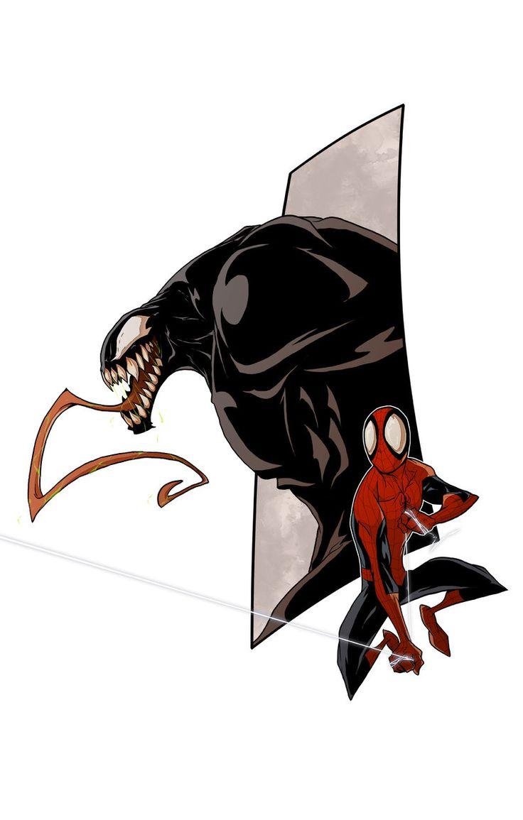 Venom Vs Spiderman 2014 by Anny-D