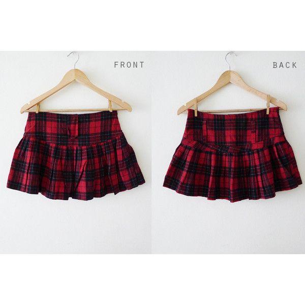 90s vtg PUNK Lolita plaid micro mini skirt, red and black tartan,... ($33) ❤ liked on Polyvore featuring skirts, mini skirts, plaid pleated skirt, short mini skirts, gothic mini skirt, short skirts and plaid skirt