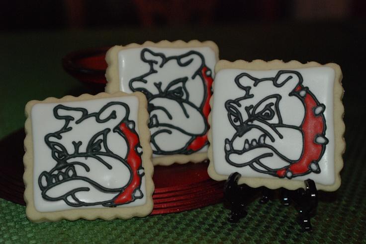 Georgia Bulldog sugar cookies