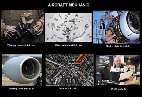 So much paperwork!!! Aircraft mechanics: What we do and what everyone else thinks we do!