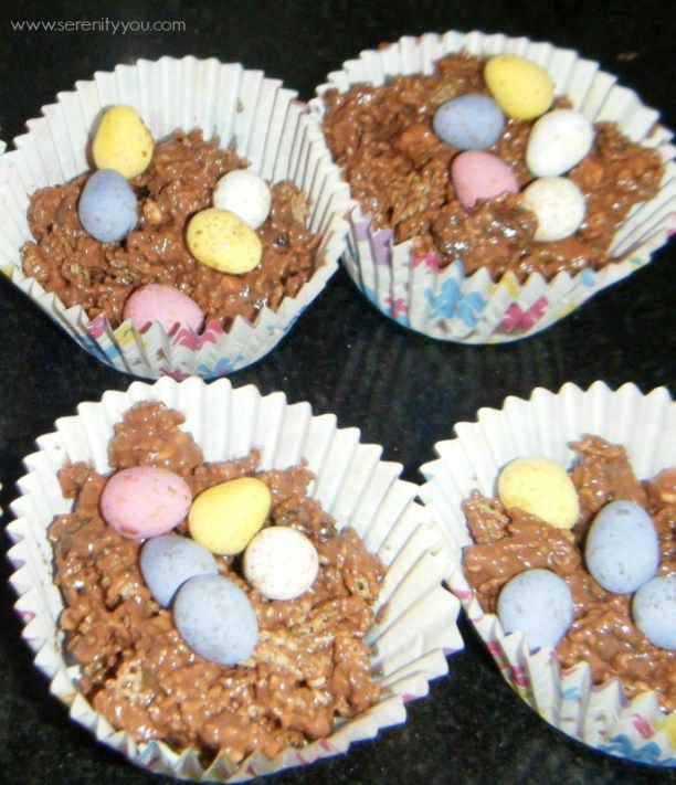 Easter Chocolate Egg Nests - Serenity You