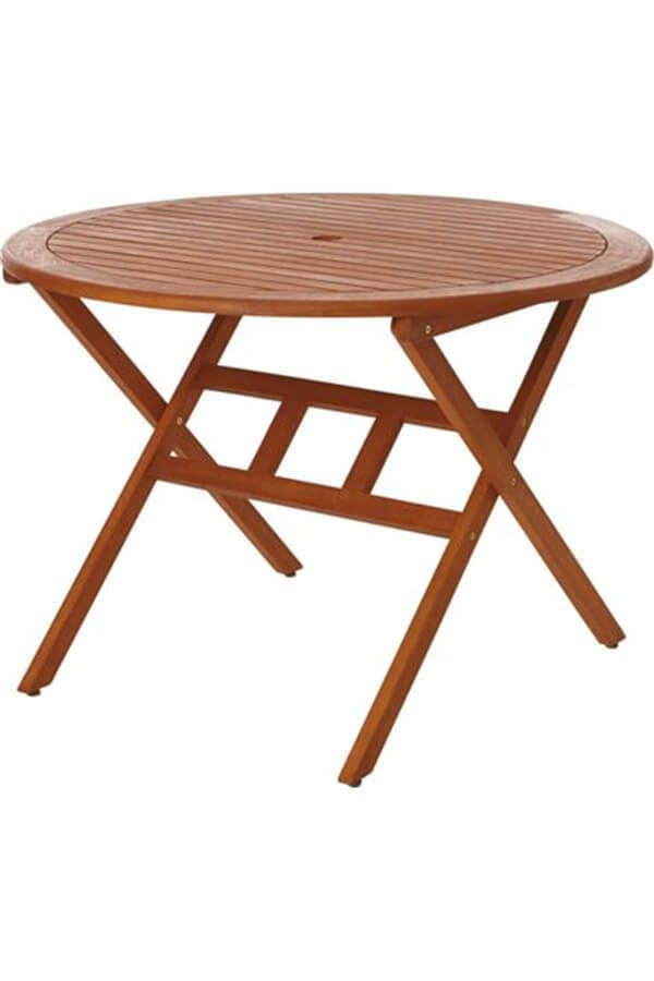 4 Seater Round Table Wooden Portable Home Garden Patio Outdoor Indoor Furniture