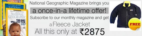 National Geographic Magazine Subscription and Get Fleece Jacket for Free
