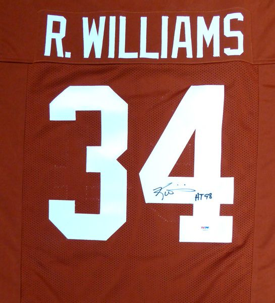 "Texas Longhorns Ricky Williams Autographed Orange Jersey """"HT 98"""" PSA/DNA"