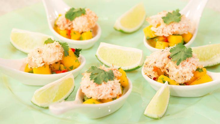 Lorraine Pascale's coconut shrimp salad