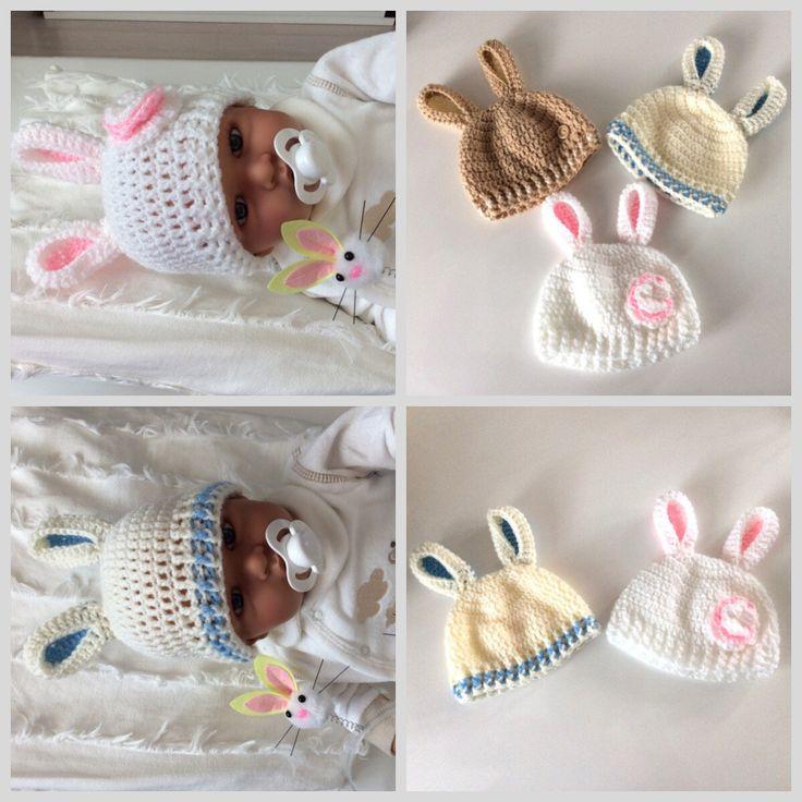 Blij om mijn nieuwste toevoeging aan mijn #etsy shop te kunnen delen: Babymuts met oortjes, mutsje lentebaby, Pasen, pasgeboren babymuts, babymuts fotoshoot,  unicorn mutsje Pasen, gehaakt. Mutsje konijnoor. #accessoires #babyfeestje #pasen #mutsmetorenbaby #mutslentebaby #beaniemetoor #paasmutsjebaby #lentemutsbaby