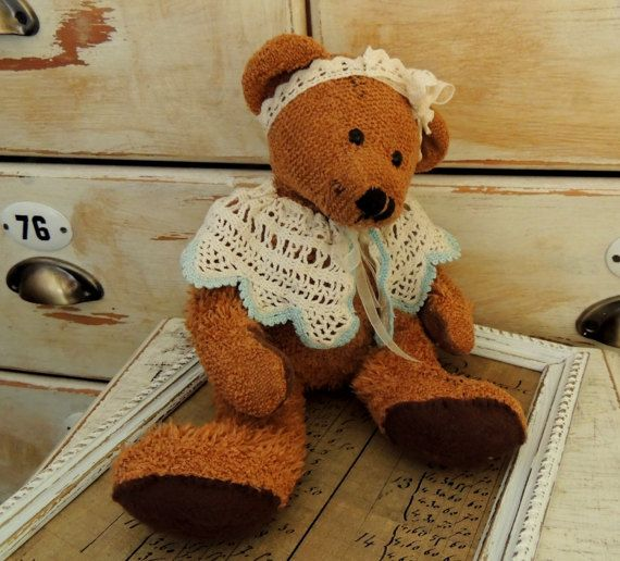 Vintage Teddy Bear Girl Preschool Toy Montessori Toy