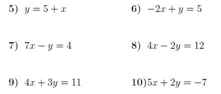 Gradient and y-intercept of a line:  A worksheet on determining the gradient and the y-intercept of a straight line from its equation.