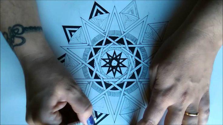 Série Mandalas com estrelas - Estrela de 10 pontas
