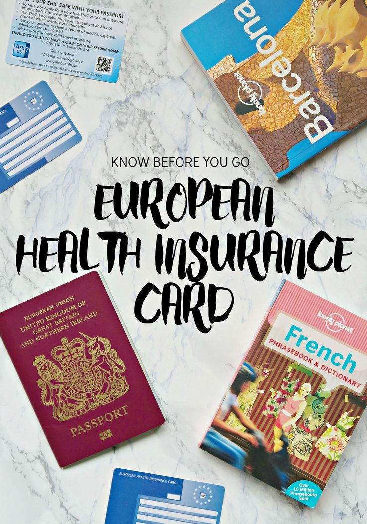 Know Before You Go: European Health Insurance