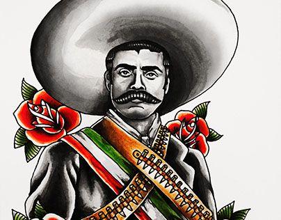 """Retrato del """" El caudillo del Sur""""."""