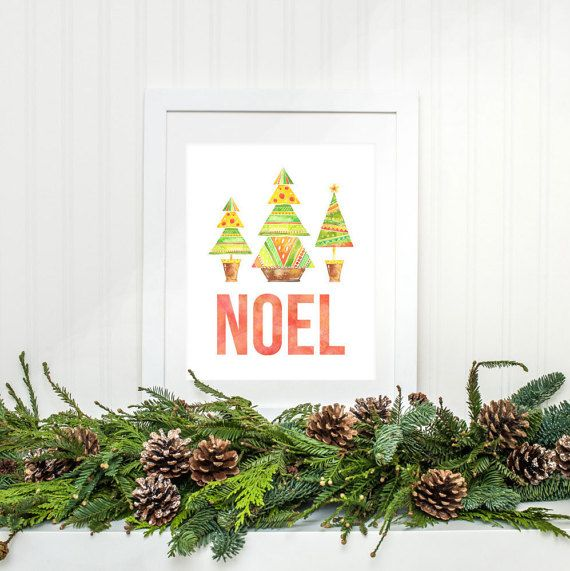 Christmas Noel Art Print - Instant Download Printable INSTANT DOWNLOAD - NO PHYSICAL PRODUCT WILL BE SHIPPED What you will receive: JPEG File - 8x10 Inches Directions for Printable Art 1. Purchase this listing 2. Once your payment has processed, download your files directly