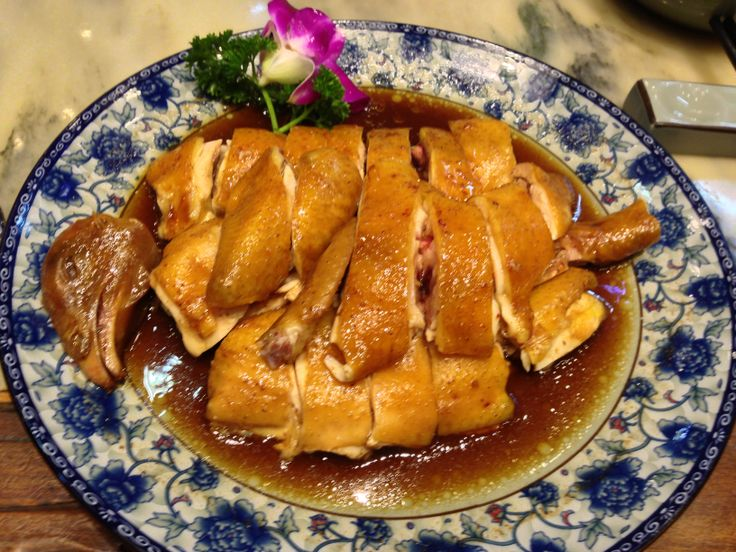 duck-fried hen with steaming