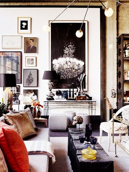 "Check out my Pinterest page for my favorite recipes, decor ideas, and fashion inspiration! Always love Domaine Home..""6 Things Every Stylish Person Has At Home// gallery wall, modern lighting"""