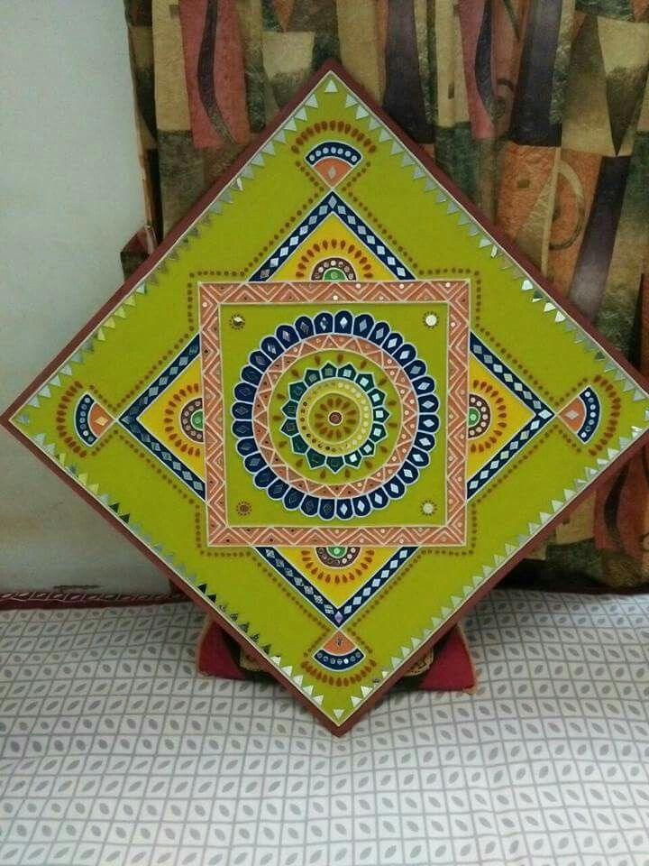 Mud painting #gujarati traditional
